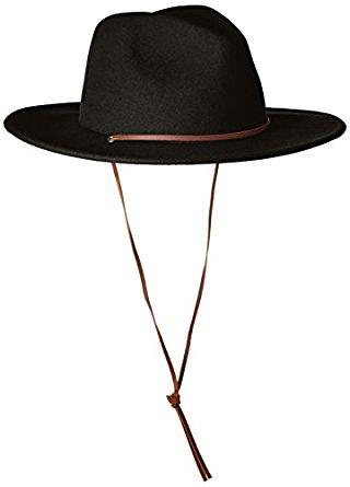 Amazon.com  Brixton Men s Messer Medium Brim Felt Fedora Hat Hat ... e31ef2deee0