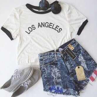 shorts denim denim shorts american flag shorts crop tops t-shirt