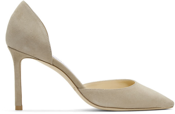 heels suede beige shoes