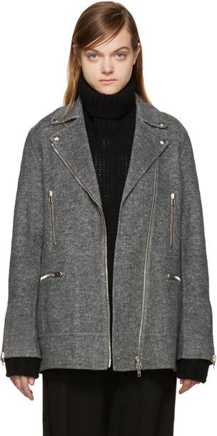 Alexander Wang jacket biker jacket grey