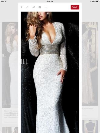 dress prom dress prom gown long prom dress silver dress silver prom dress