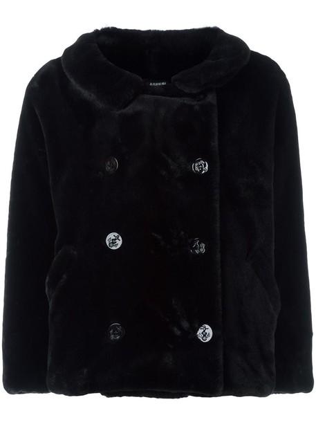 ASPESI jacket oversized jacket oversized women black velvet