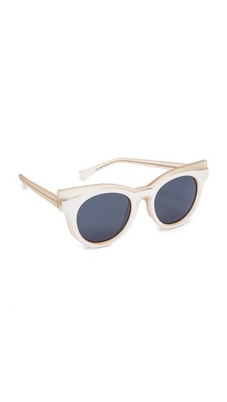 matte smoke sunglasses white blush