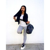 shoes,nike,sneakers,high top sneakers,white,india love,india westbrooks,jacket,shirt,bag,swag