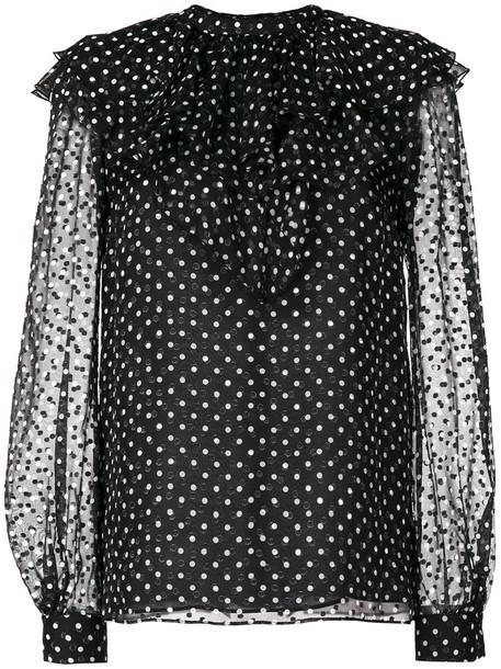 GIAMBATTISTA VALLI blouse women black silk top