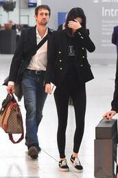 jacket,blazer,sneakers,kendall jenner,kardashians,model off-duty,london fashion week 2017,fashion week 2017,sweater