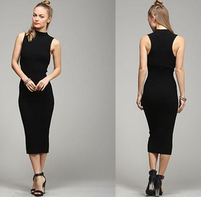 Black sleeveless midi dress · trendyish · online store powered by storenvy