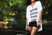 top,zaful,summer,cover up,beach,casual,quote on it,fashion,style,trendy,streetstyle,shirt,graphic tee,white t-shirt,oversized t-shirt