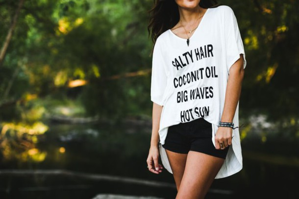 top zaful summer cover up beach casual quote on it fashion style trendy streetstyle shirt graphic tee white t-shirt oversized t-shirt