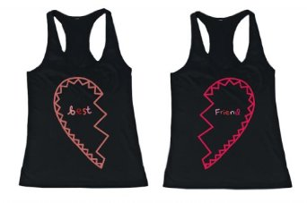 Amazon.com: BFF Tank Tops Best Friend Matching Hearts Matching Shirts for Best Friends: Clothing