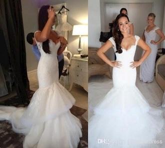 dress steven khalil lace mermaid wedding dress