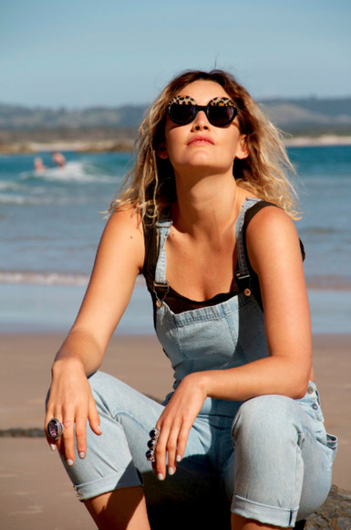 sunshine summer jewels jewelry accessoires fashion rings beach milk the goat sunglasses overall silver cast eyewear denim jeans