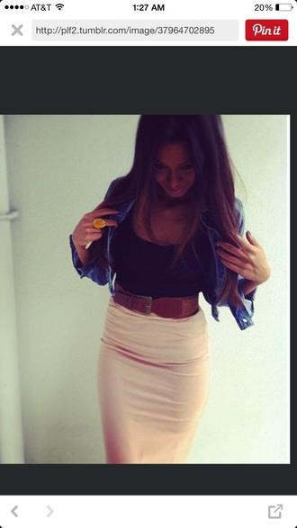 skirt jacket style waist belt