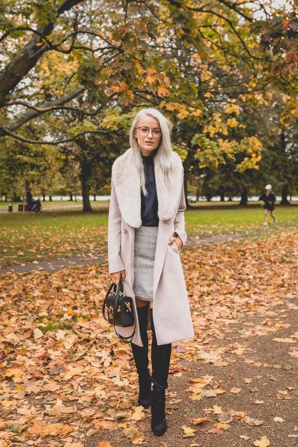 Aeven Faux Fur Collar Wrap Coat