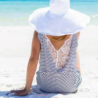 hat beach summer floppy hat preppy big hat amazinglace