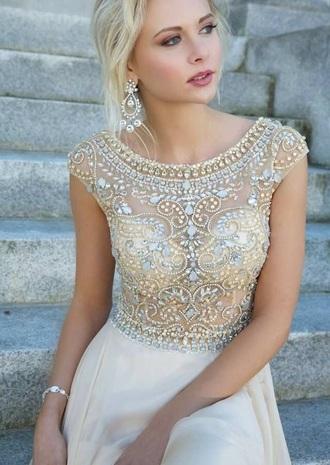 dress high neck tan love prom dress long prom dress prom gown mermaid prom dress sequin dress style fashion pretty nice