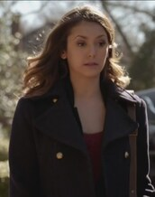 coat,wool,pea coat,the vampire diaries,navy,nina dobrev,elena gilbert