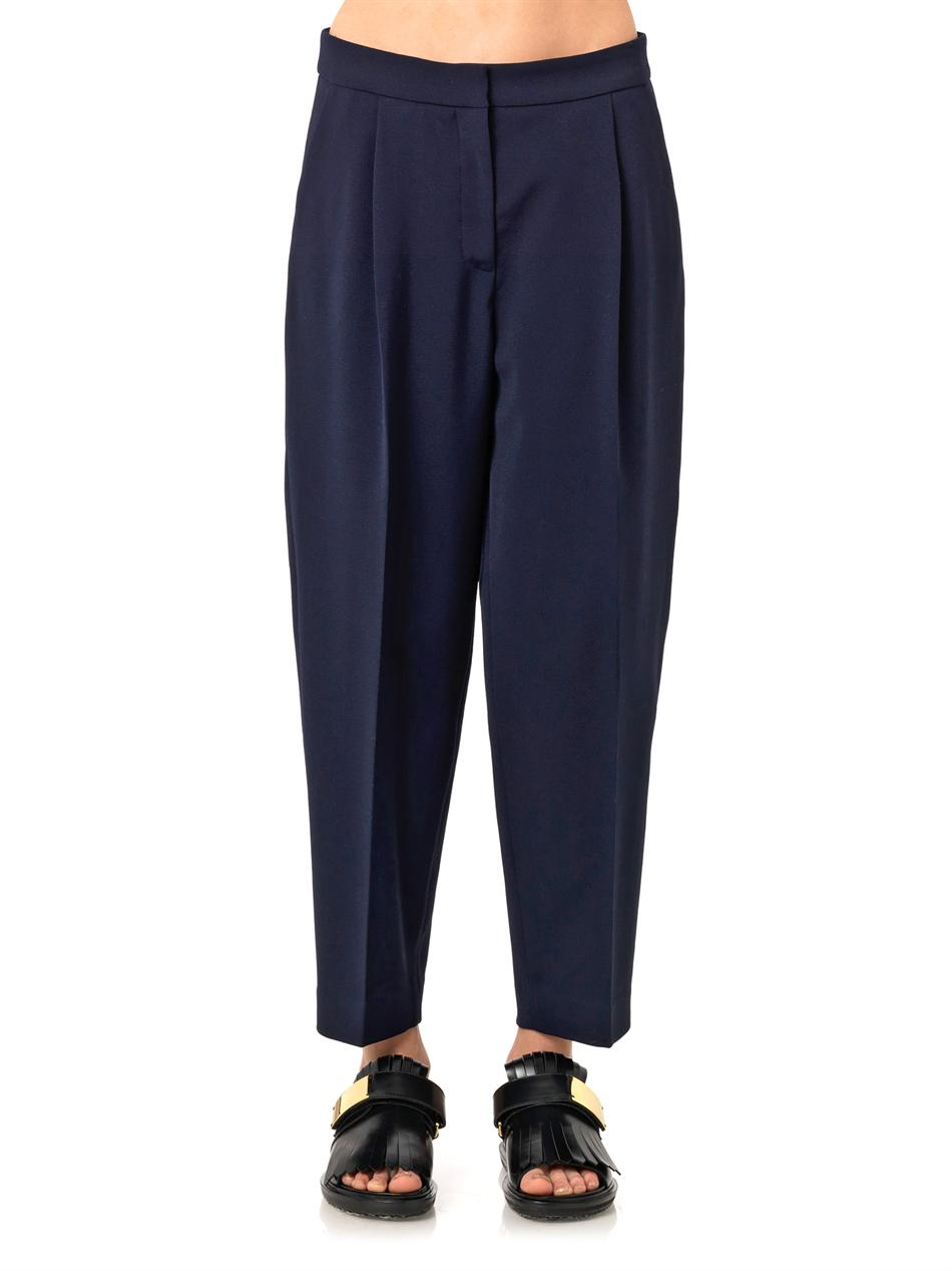 Balloon-leg cropped wool trousers | Freda | MATCHESFASHION.COM