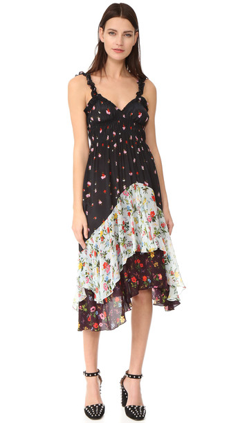 Preen By Thornton Bregazzi Preen Line Cecile Dress - Black/Blue/Wine
