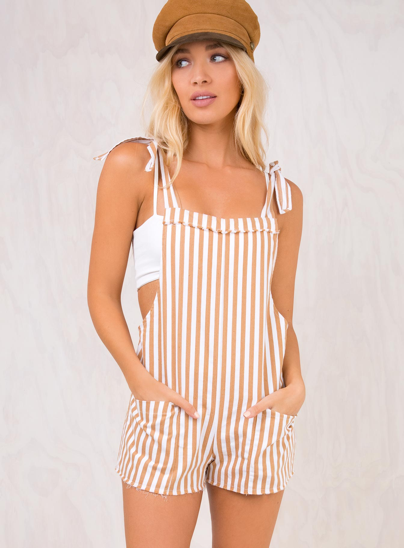 Guest Woods Tie Shoulder Playsuit