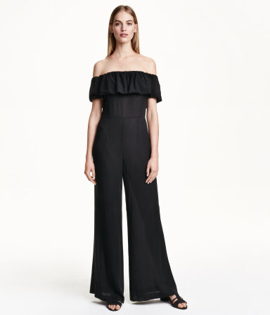 Recommend Online Free Shipping Outlet Locations H&M Off-the-shoulder jumpsuit In China Sale Online Cheap Free Shipping Visit New Sale Online P6U26hz