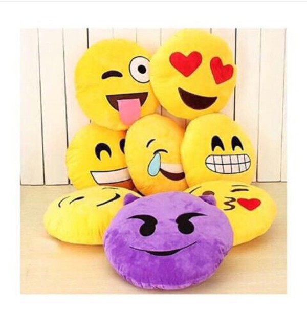 home accessory pillow emoji print emoji pillow box gift ideas contest emoji print give away fashion dress back to school summer