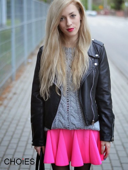 Elastic Waist Skater Skirt | Choies