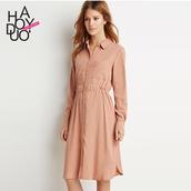 dress,chiffon dress,summer,spring dress,pink,long sleeves,turn down collar,sexy dress,long dress