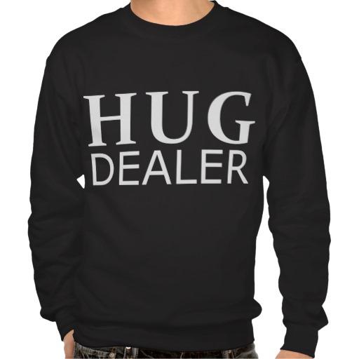 De Sweater van de Handelaar van de omhelzing van Zazzle.be