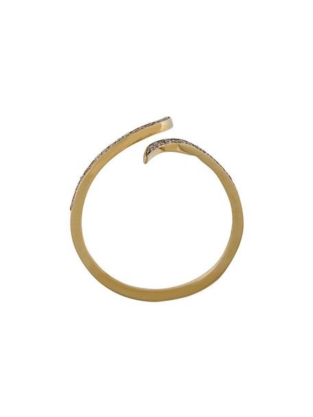 Christina Debs women tattoo ring gold yellow grey metallic jewels