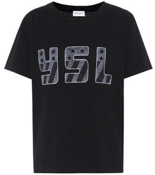 Saint Laurent t-shirt shirt cotton t-shirt t-shirt cotton black top