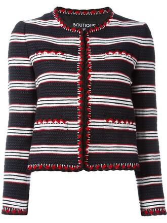 jacket knit women cotton black