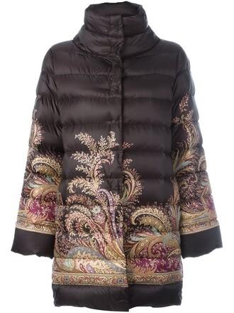 jacket women print black paisley
