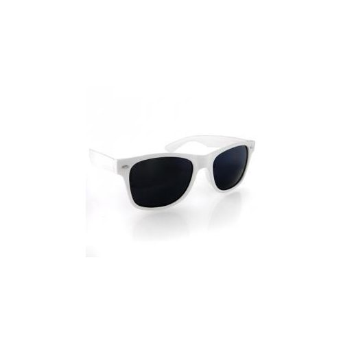 White wayfarer plastic sunglasses