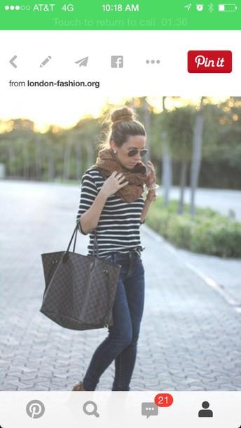 blouse navy stripe