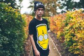 t-shirt,guys,pentagram,kill star clothing,bart simpson,hat,kill,cross,illuminati,fall outfits,ear plug,alternative,bag,shirt