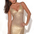 Gold Party Dress - Gold Bandage Dress | UsTrendy