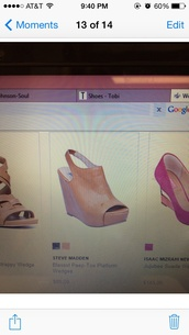 shoes,steve madden,peep toe,wedges,wedges tan,camel,pumps,leather wedges