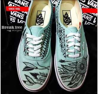 shoes vans dreamcatcher tribal pattern