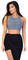 Karmen grey ribbed crop top