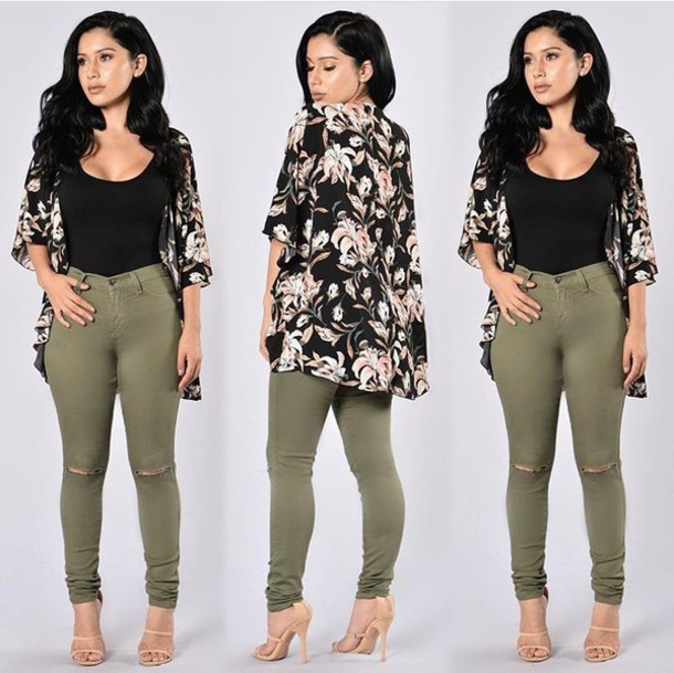 d052d33aab63 pants skinny pants high waisted pants jeans skinny jeans high waisted jeans  olive green ripped jeans