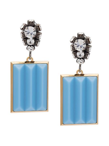 MARNI women earrings pendant blue jewels