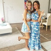 maxi,maxi skirt,midi skirt,skater,skater skirt,sleeveless,short sleeve,lace,lace up,lace top,crochet,long,long skirt,crop tops,tank top,shirt,blue skirt,blue,light blue,make-up,shorts,high waisted,high waisted skirt,flowy,two piece dress set,set,blue top,flats,beach,skirt,shoes,blue and white