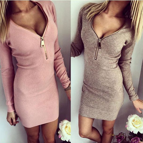 dress zipper dress sweater dress cute dress super cute dress
