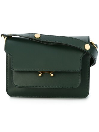 metal bag shoulder bag green