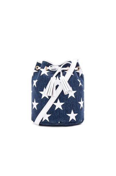 Shaffer x REVOLVE The Greta Bucket Bag in blue