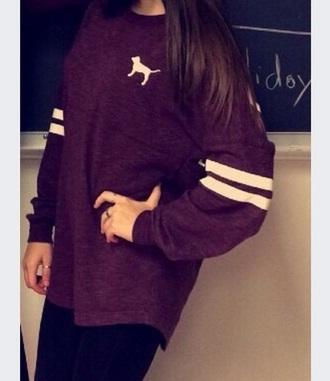 sweater burgundy sweater oversized sweater white