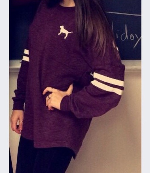 sweater burgundy sweater oversized sweater white