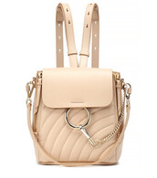 quilted,backpack,leather backpack,leather,beige,bag