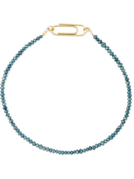 women gold blue jewels